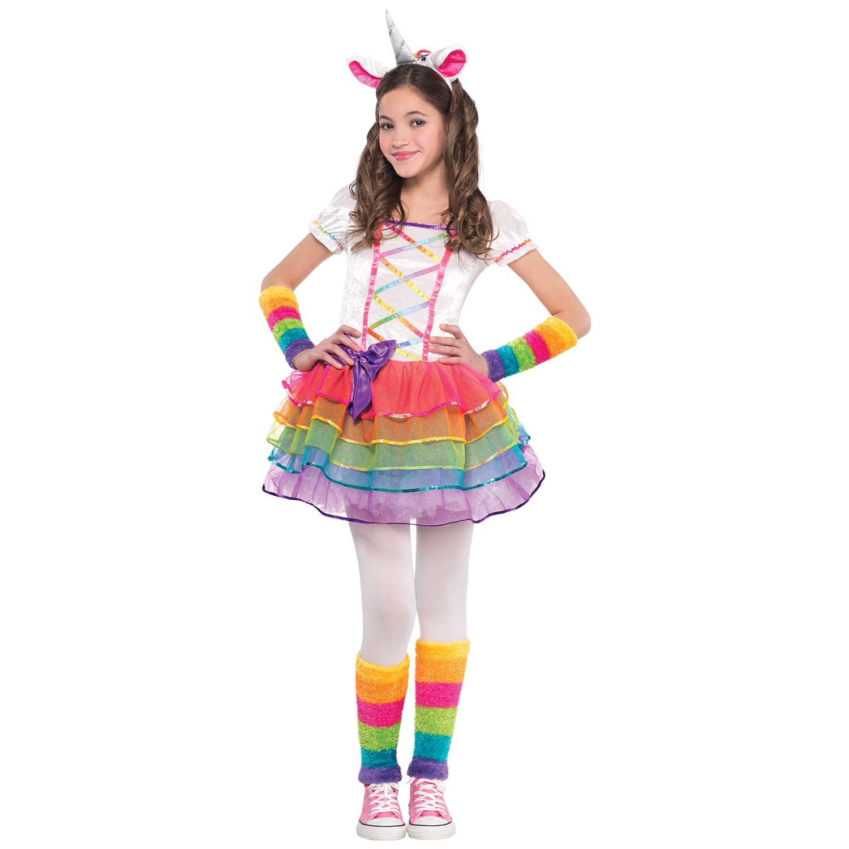 Rainbow Unicorn Costume Age 8 10 Years 1 Pc Amscan