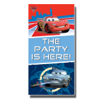 Cars Party Here Door Sign 1.65m x 85cm - 6 PC
