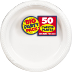 Frosty White Plastic Plates 28cm - 6 PKG/50