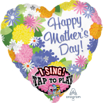 Happy Mother's Day Sweet Love Sing-a-Tune Foil Balloons P60 - 5 PC