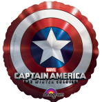 "Captain America Shield - SuperShape Foil Balloons - 28""/71cm w x 28""/71cm h - P38 - 5 PC"