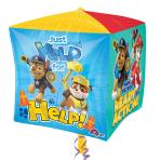 """Paw Patrol Cubez Foil Balloon 15""""/38cm x 15""""/38cm G40 - 5PC"""