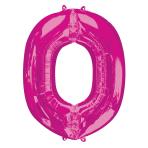 "Letter O Pink SuperShape Foil Balloons 34""/""86cm P50 - 5 PC"