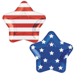 Celebrate USA Star Shaped Foil Plates 27cm - 9 PKG/10