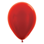 "Metallic Solid Red 515 Latex Balloons 5""/13cm - 100 PC"