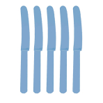 Caribbean Blue Heavy Weight Plastic Knives - 12 PKG/48
