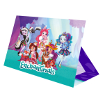Enchantimals Stand-up Invitations - 6 PKG/8
