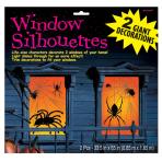 Spider Window Silhouettes 0.85x1.65m - 9 PKG/2