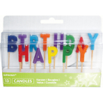 Happy Birthday Pick Candles - 6 PKG/13