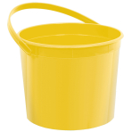 Yellow Plastic Buckets 11cm h x 13cm dia - 12 PC