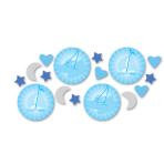 Christening Blue Booties Confetti 14g - 6 PKG