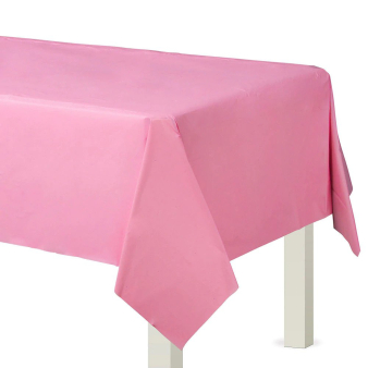 Bright Pink Plastic Tablecovers 1.37m x 2.74m -12 PC