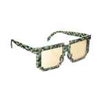 Fun Shades Pixilated Green Tinted - 6 PKG