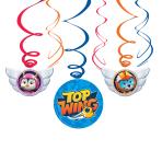 Top Wing Hanging Swirl Decorations - 6 PKG/6
