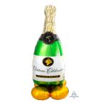 """Bubbly Wine Bottle AirLoonz Large Foil Balloons 33""""/83cm x 55""""/139cm P70 - 3 PC"""