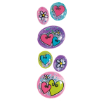Hearts & Flowers Stickers - 6 PKG