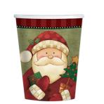 Cosy Santa Paper Cups 266ml - 12 PKG/8