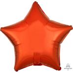 Metallic Orange Star Standard Unpackaged Foil Balloons S15 - 10 PC