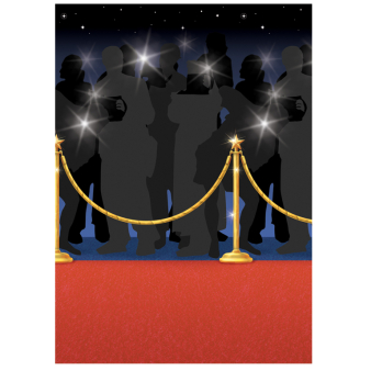 Hollywood Red Carpet Room Scene Setters 1.2m x 15.2m- 4 Rolls