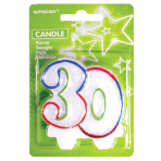 Milestone Candles Number 30 - 6 PKG