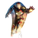 "Iron Man 3 SuperShape Foil Balloon - 32""/81cm w x 36""/91cm h - P38 5 PC"