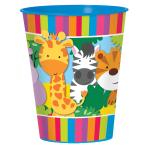 Jungle Friends Plastic Favour Cups 473ml - 12 PC