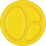 Sunshine Yellow Plastic Divider Plates 26cm - 10 PKG/20