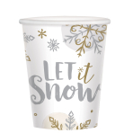 Shining Snow Paper Cups 266ml - 6 PKG/8
