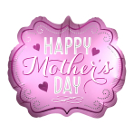 "Happy Mother's Day Marquee Satin Luxe SuperShape Foil Balloons 25""/63cm x 22""/55cm P35 - 5 PC"