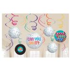 Good Vibes Swirl Decorations - 6 PKG/12