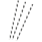Kicker Party Paper Straws 19.7cm - 24 PKG/12
