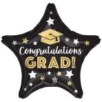 Congratulations Grad Stars Standard Foil Balloons S40 - 5 PC