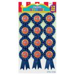 """Ribbon Award """"Winner"""" Rosette - 6 PKG/12"""