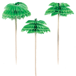 Palm Tree Honeycomb Picks 7.6cm - 12 PKG/12