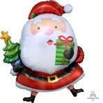 Santa with Tree SuperShape Foil Balloons 26 /66cm w x 37 /93cm h P35 - 5 PC