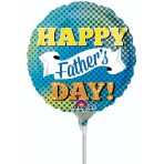 Happy Father's Day Dots & Banner Mini Foil Balloons A15 - 5 PC