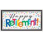 Happy Retirement Giant Banners 1.65m x 50cm - 18 PC