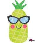 "Fun in the Sun Pineapple Junior Shape Foil Balloons 12""/30cm w x 26""/66cm h S40 - 5 PC"