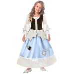 Pretty as a Princess Reversible Princess/Pauper 2 in 1 Costume - Age 6-8 Years - 1 PC