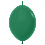 "Fashion Colour Link-O-Loon Solid Forest Green 032 Latex Balloons 6""/15cm - 100 PC"
