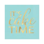 Confetti Fun It's Cake Time Hot Stamped Beverage Napkins 25cm - 12 PKG/16