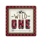 "Little Lumberjack ""Wild One"" Square Paper Plates 18cm - 12 PKG/8"