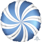 Satin Infused Azur Candy Swirls Standard Foil Balloons S30 - 5 PC