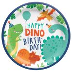 Dino-Mite Party Paper Plates 23cm - 12 PKG/8
