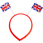 Red White & Blue GB Flag Boppers - 10 PC