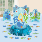 Ahoy Baby Blue Table Decorating Kit - 9 PKG