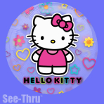 "Hello Kitty See-Thru Foil Balloons 26""/66cm P30 - 5 PC"