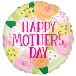 Happy Mother's Day Soft Palette Standard Foil Balloons S40 - 5 PC