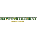 Camouflage Add-an-Age Letter Banners 3.2m x 25.4cm - 6 PKG
