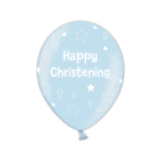 Christening Icy Blue Latex Balloons - 1 PKG/25